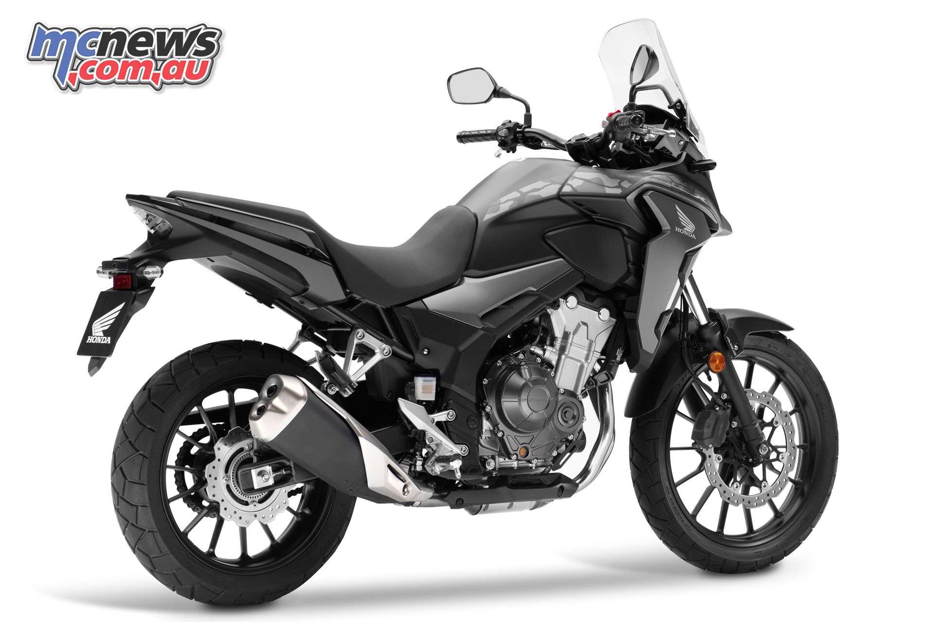 The 2019 Honda CB500X also features a new rear shock and longer suspension travel