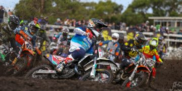 MX Nationals Rnd Wonthaggi MX Start Waters Bopping Mellross Cover