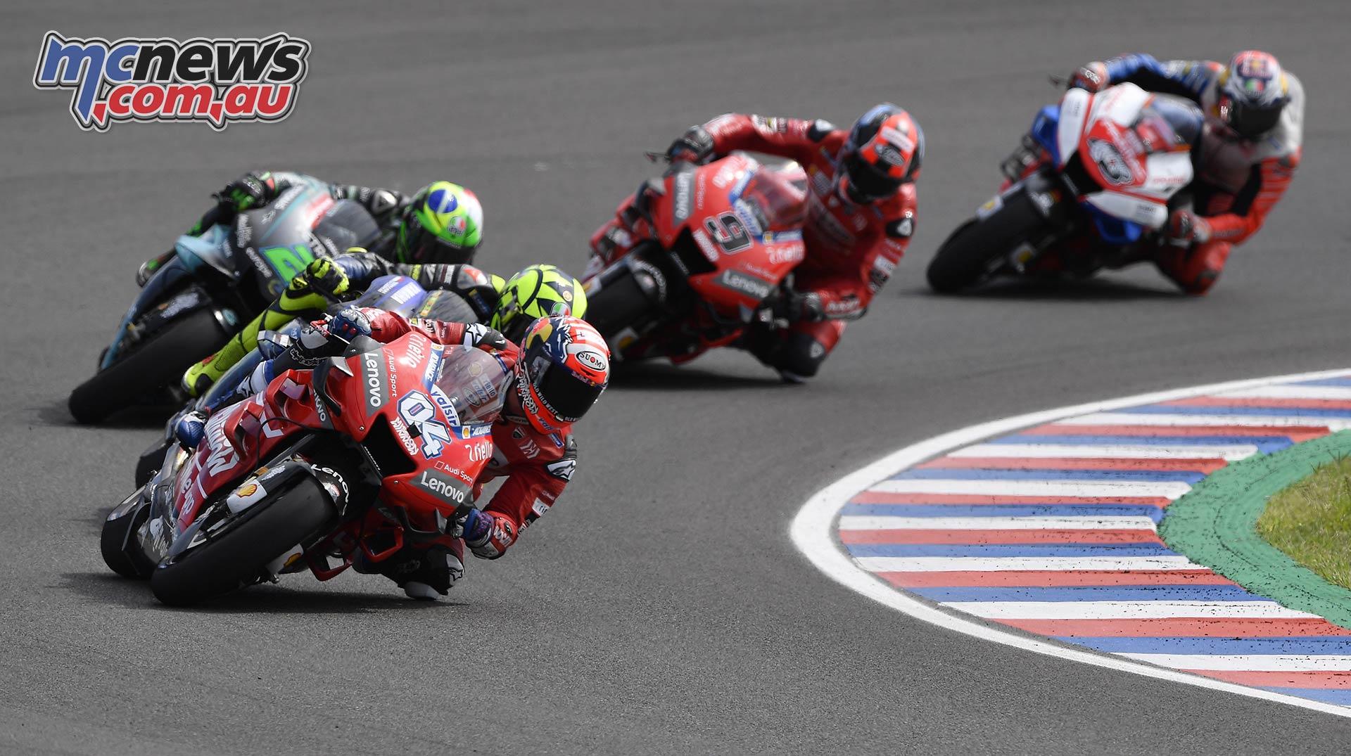 MotoGP Rnd Argentina Dovizioso Rossi Morbidelli Petrucci Miller