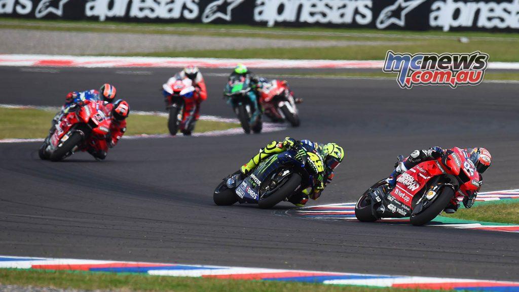 MotoGP Rnd Argentina Dovizioso Rossi Petrucci Rins