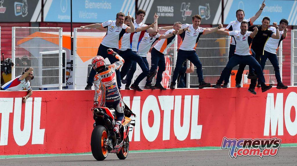 MotoGP Rnd Argentina Marquez Flag Team