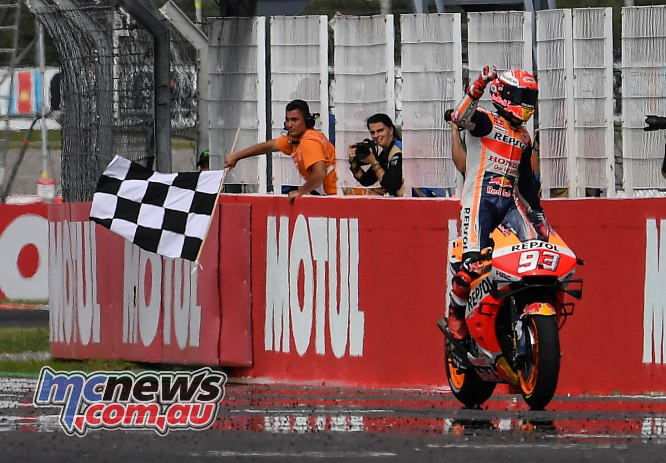 MotoGP Rnd Argentina Marquez Flag