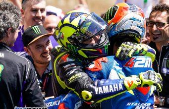 MotoGP Rnd COTA Rossi Celebrate Rins