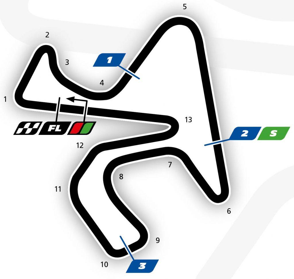 MotoGP Rnd Jerez Track Map