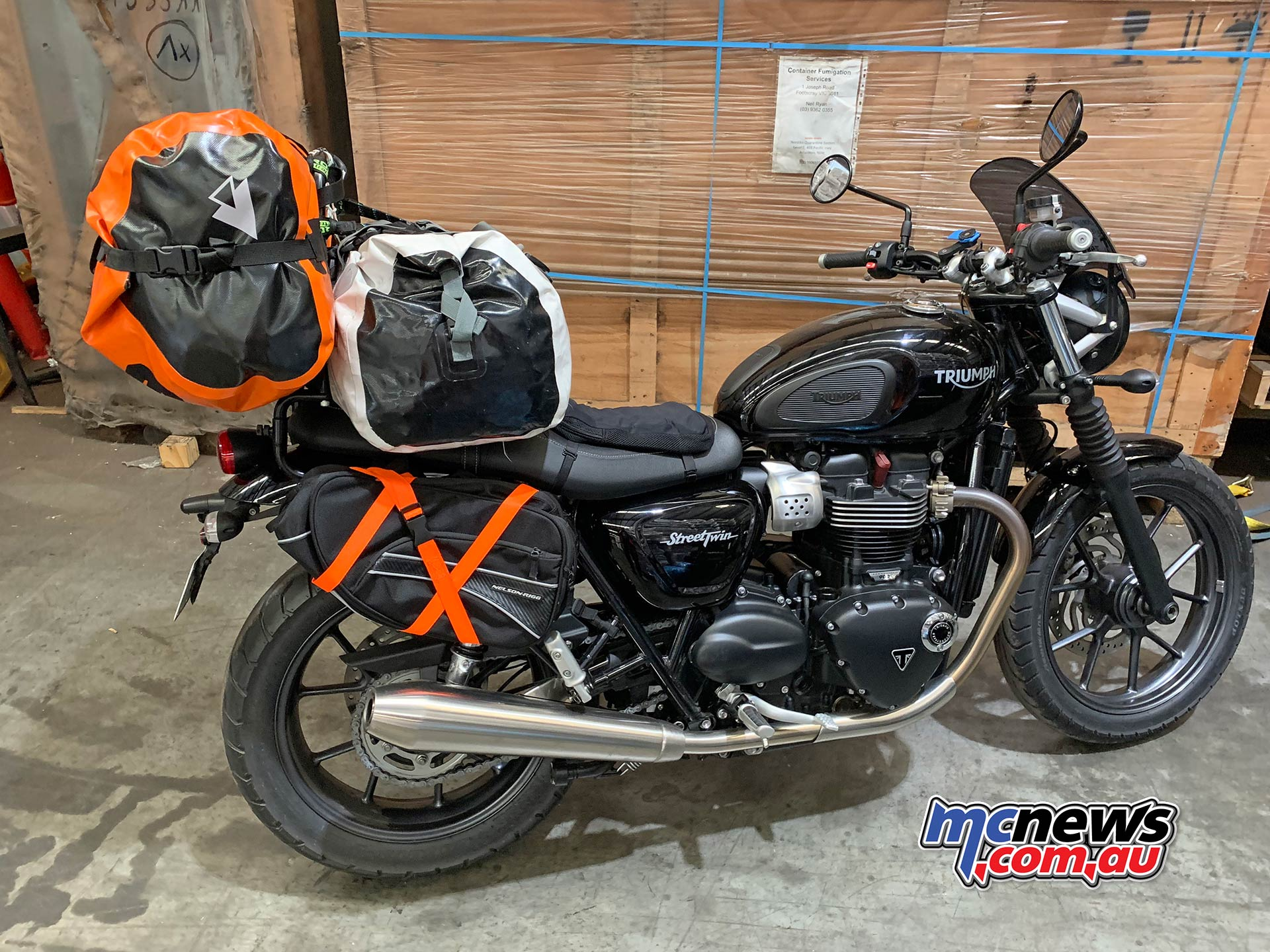 TT Get Routed Loading Triumph Street Twin