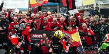 WSBK Aragon R Ducati Celebrate