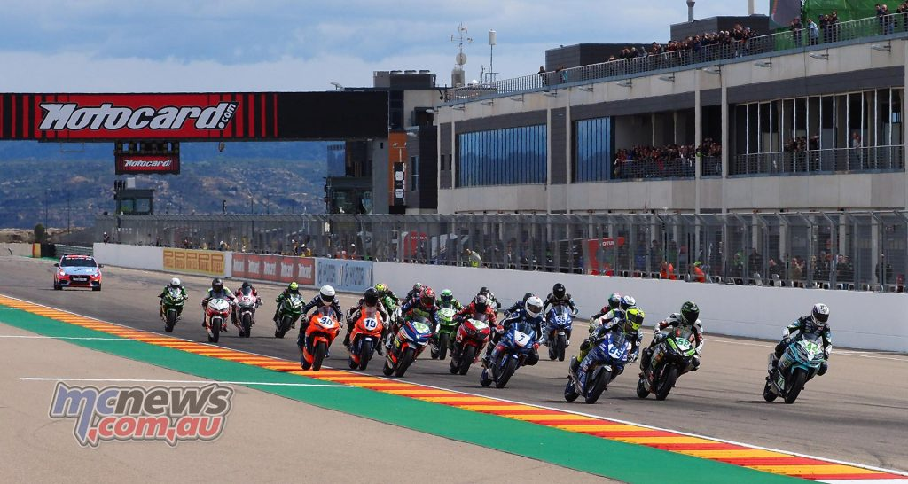 WSBK Aragon WorldSSP Sat Group