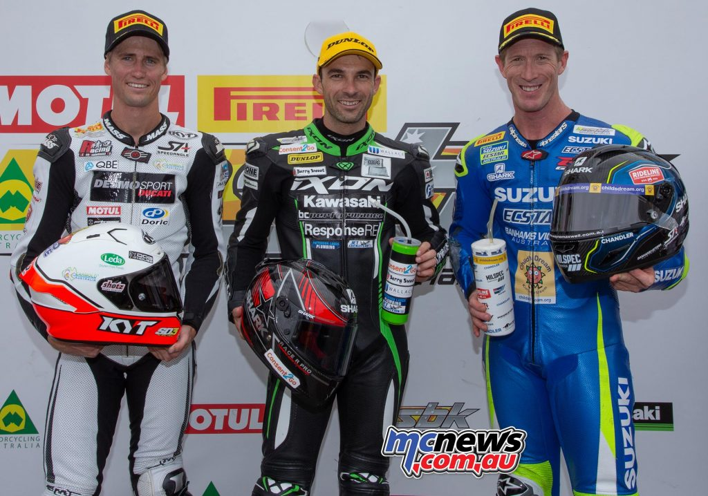 ASBK TBG ASBK Round The Bend R Podium Staring Jones Maxwell TBG