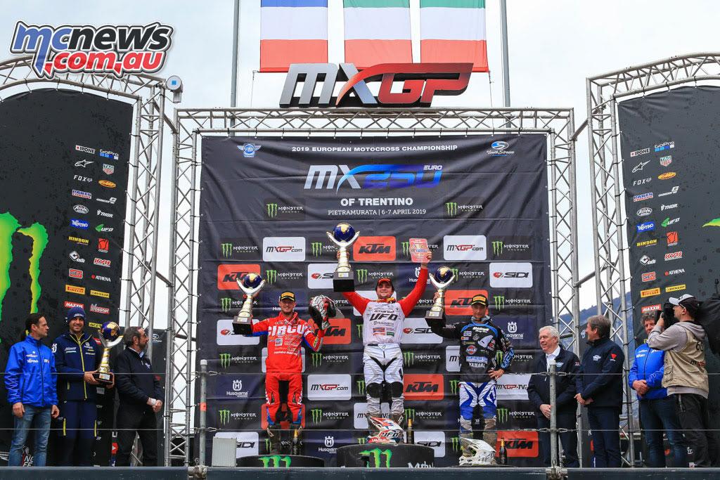 MXGP Rnd Trentino EMX Podium