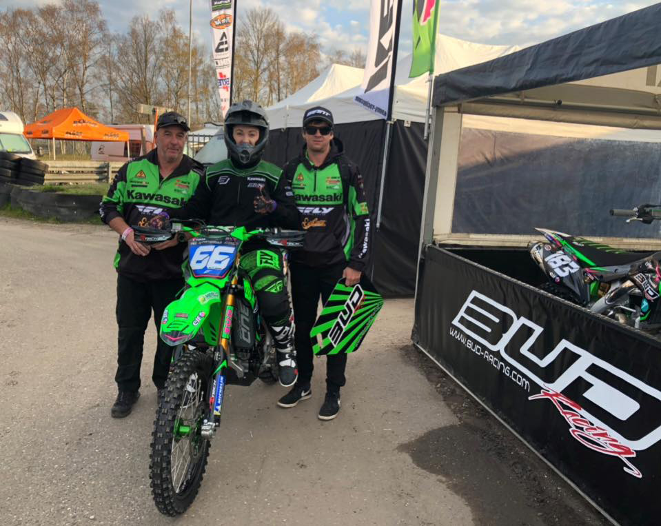 Meghan Rutledge is competing for Bud Racing Kawasaki Facebook photo