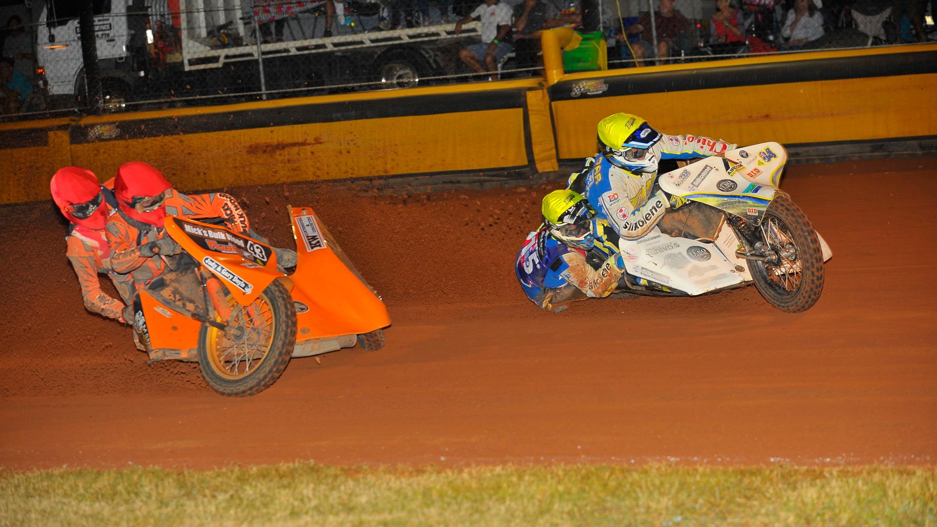 Treloar crowned time Australian Speedway Sidecar Champion