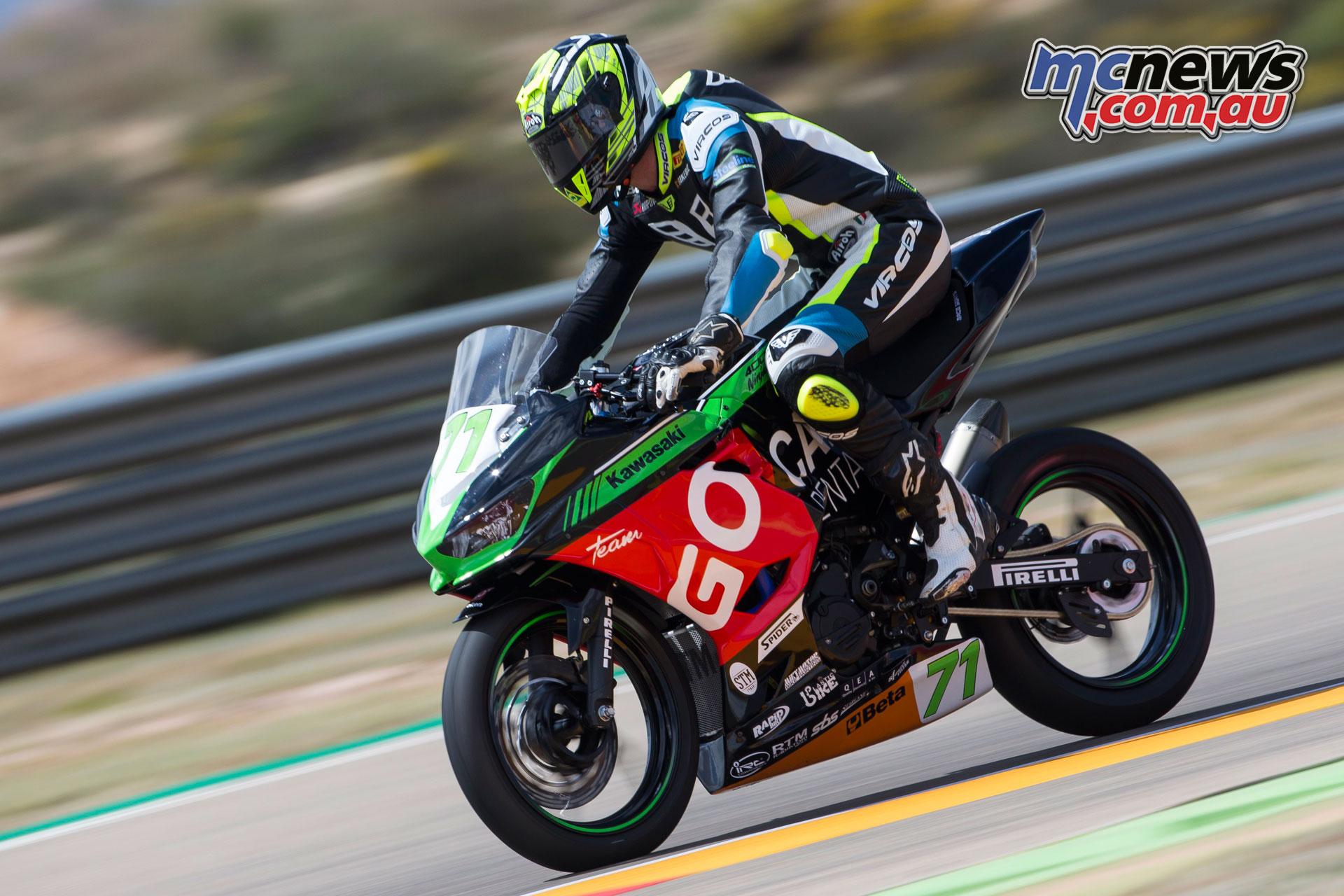 WorldSBK Rnd Aragon Sun Tom Edwards Kawasaki