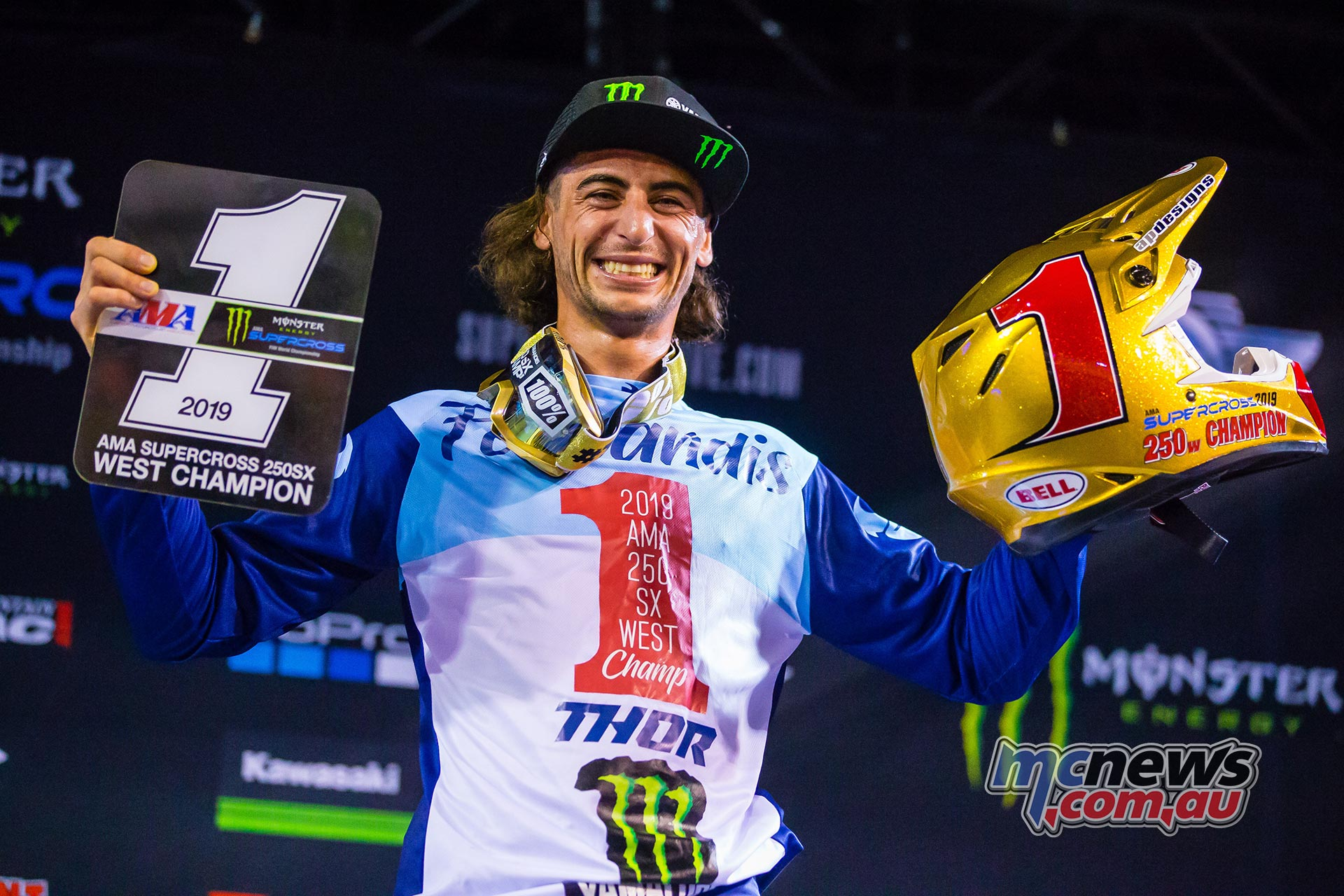 AMA Supercross FInal Ferrandis Podium JK SX Vegas
