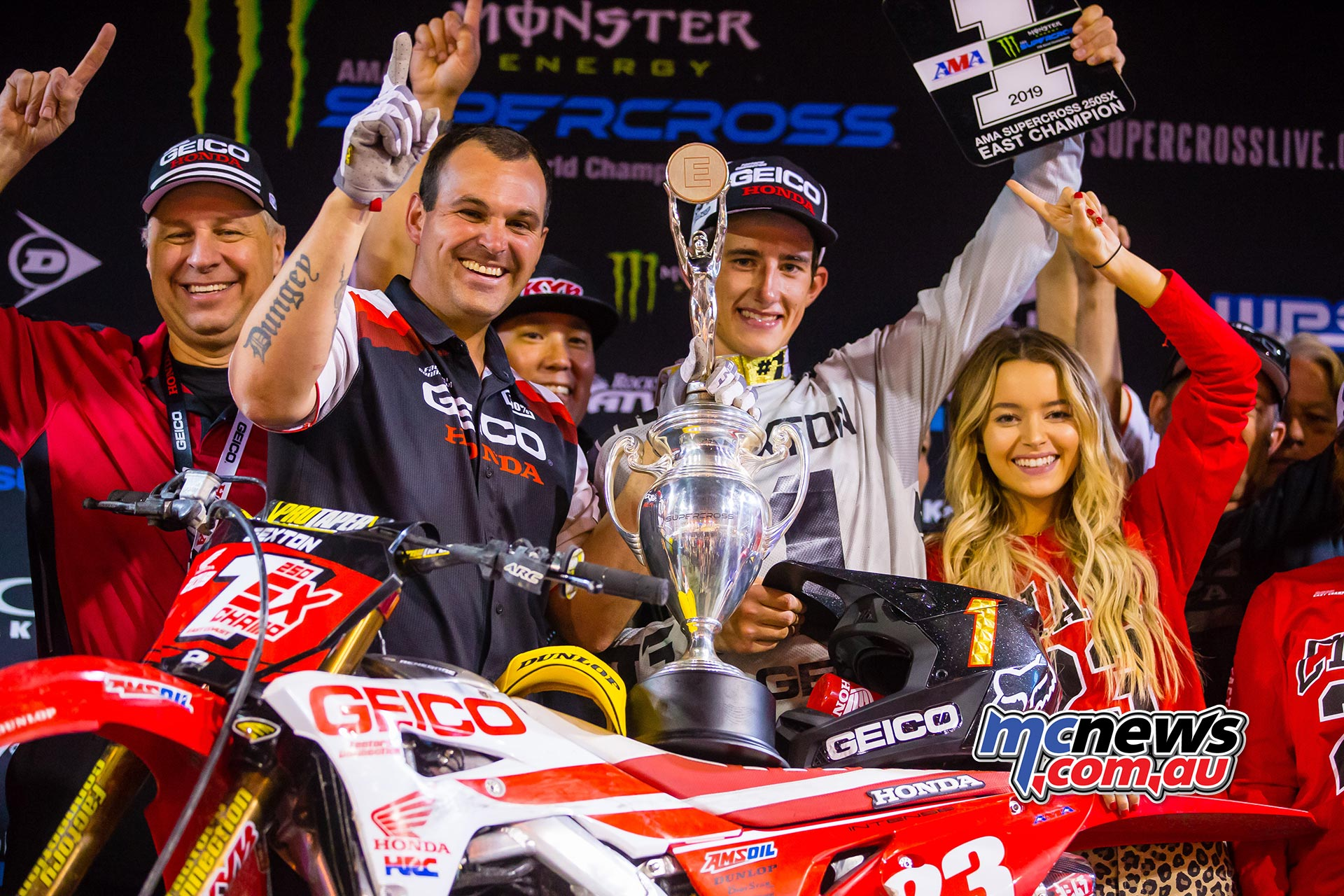 AMA Supercross FInal Sexton Podium JK SX Vegas