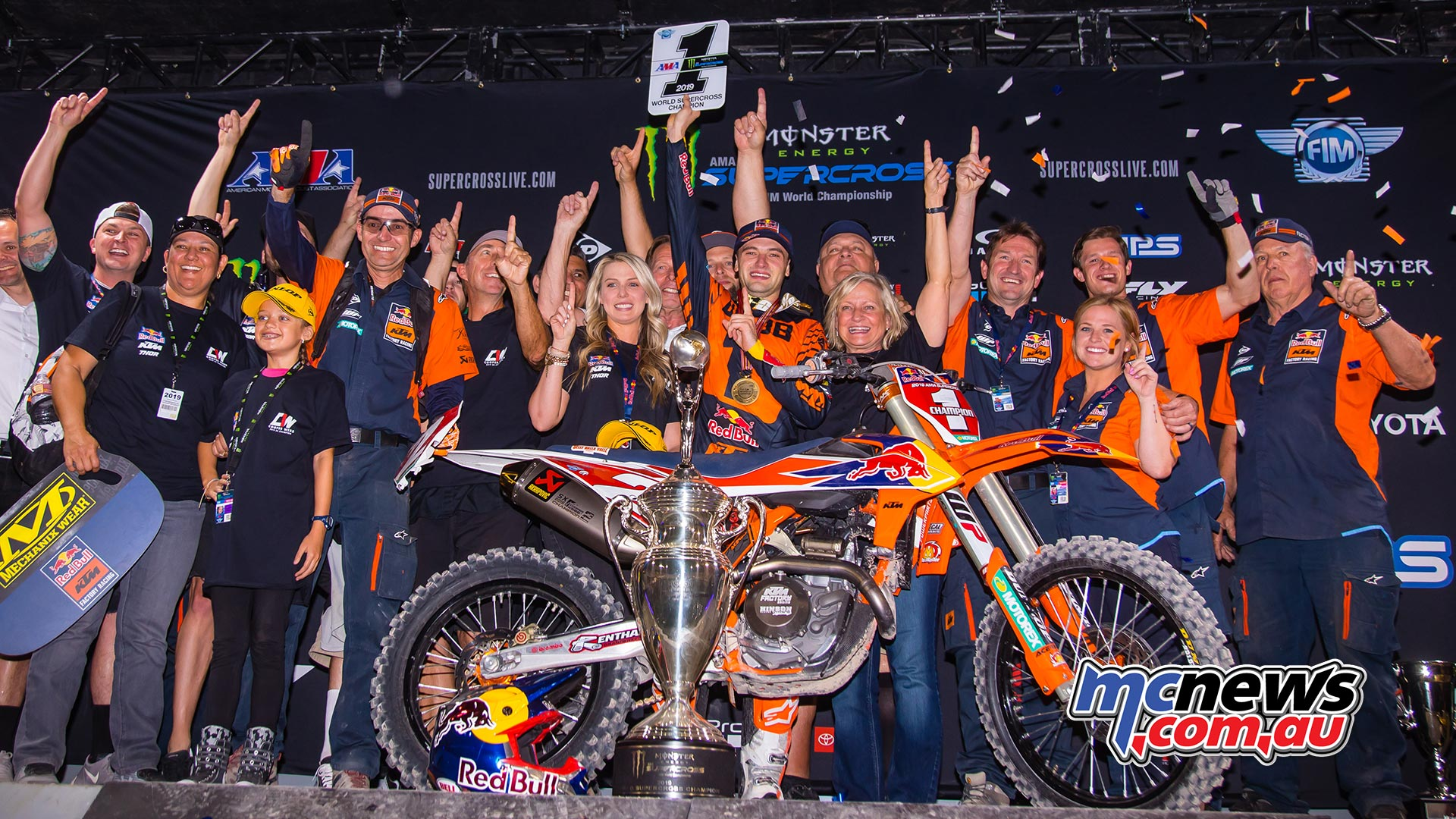 AMA Supercross FInal Webb Podium JK SX Vegas