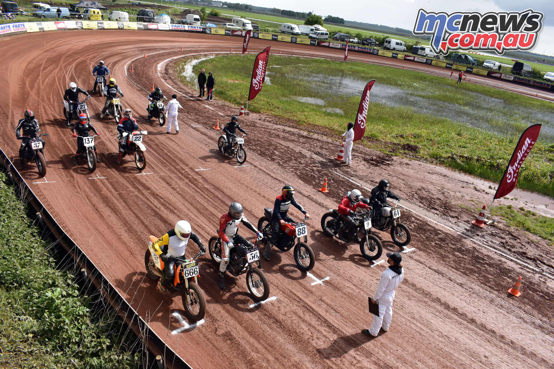 Indian European Flat Track Championship Rnd Hells Race