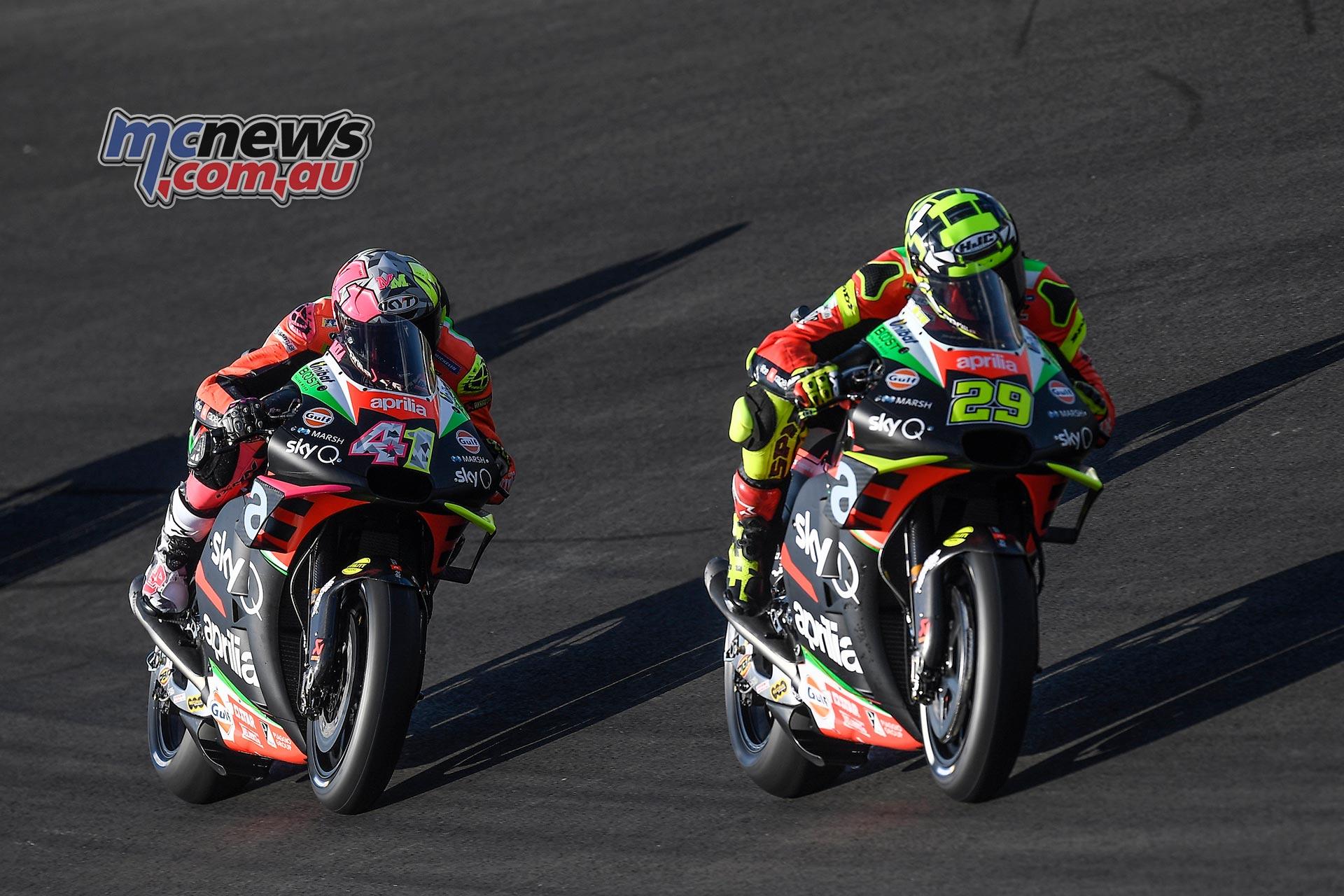 MotoGP Rnd Jerez Andrea Iannone Aleix Espargaro