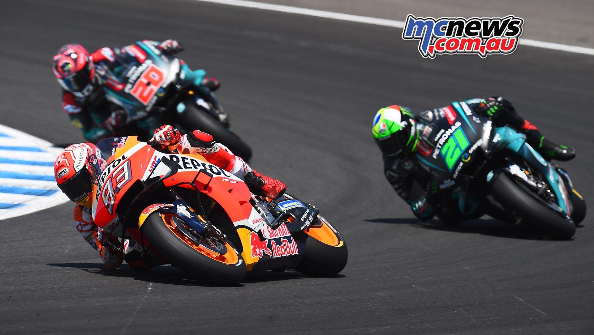 MotoGP Rnd Jerez Marquez Morbidelli Quartararo