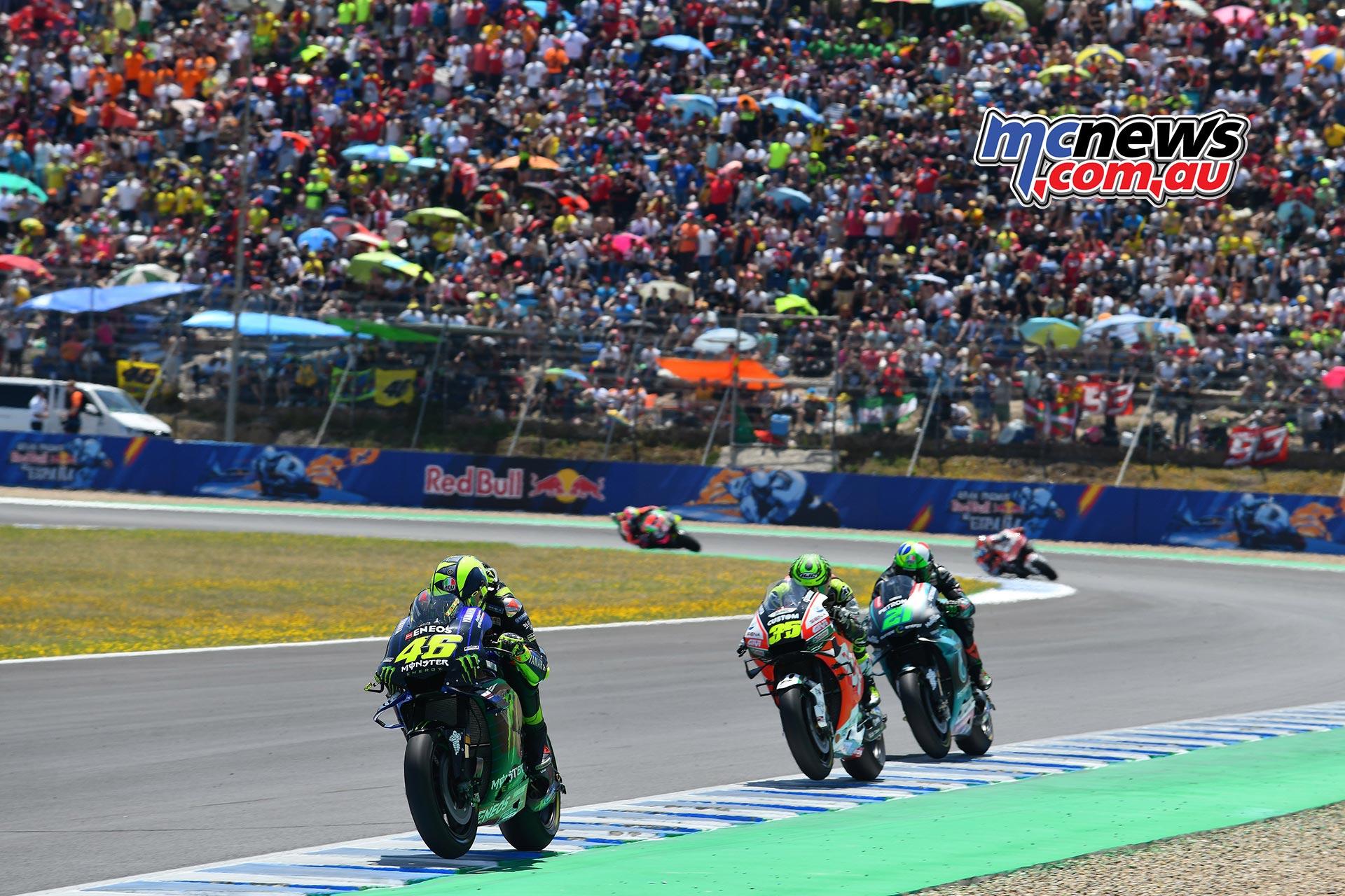 MotoGP Rnd Jerez Rossi Crutchlow