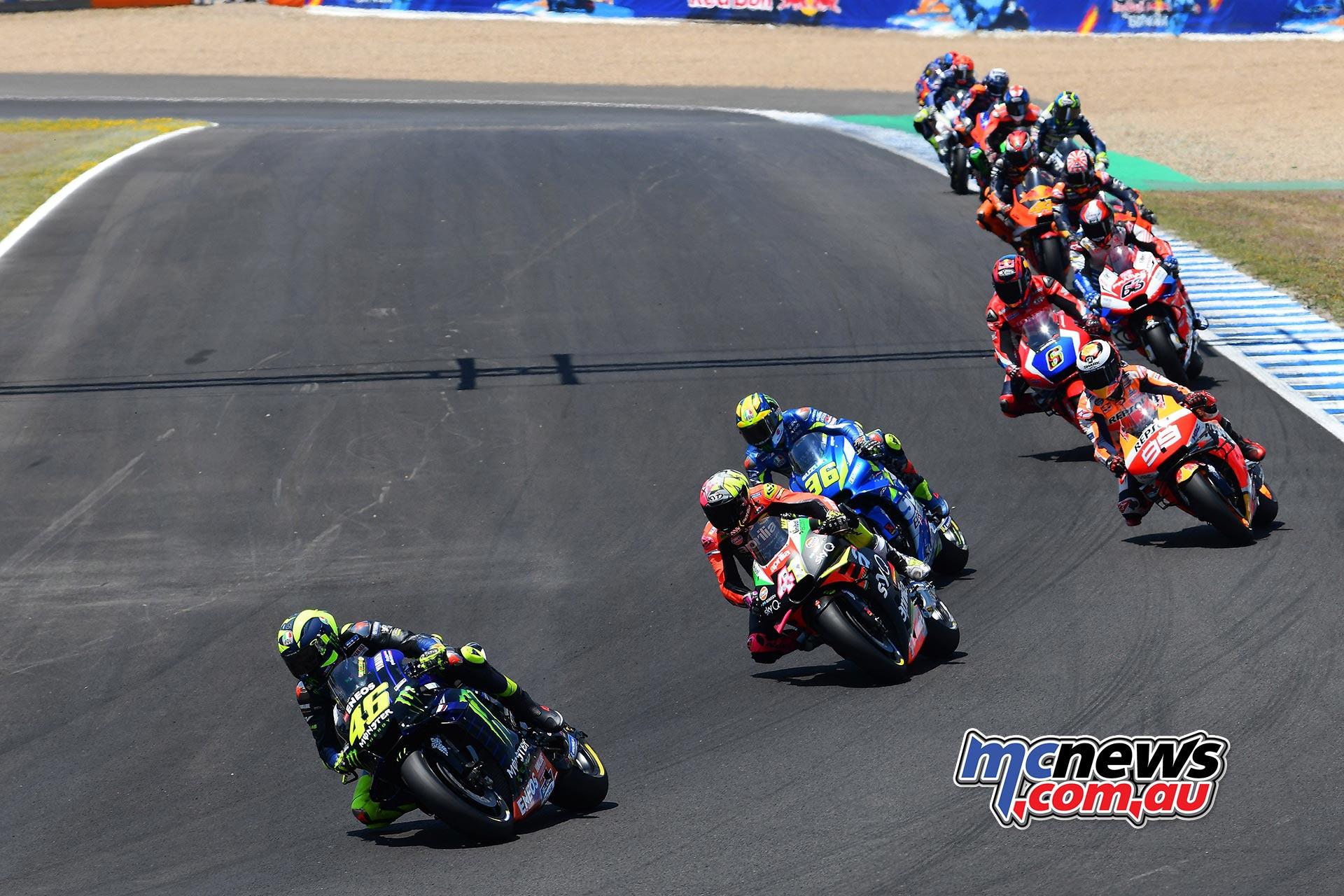 MotoGP Rnd Jerez Start Rossi
