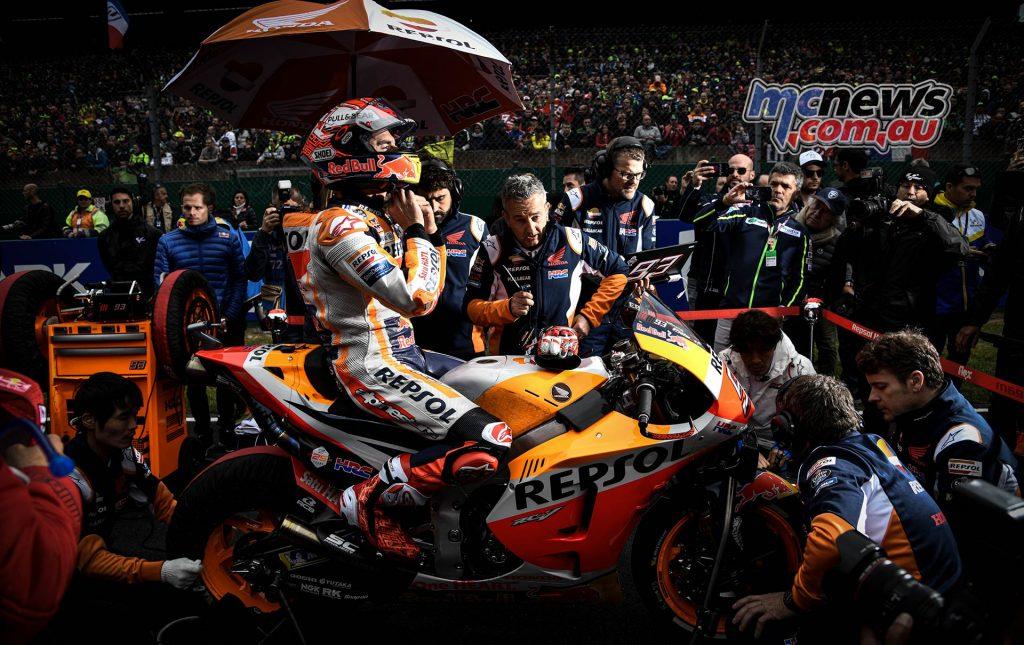 MotoGP Rnd LeMans Grid Marquez