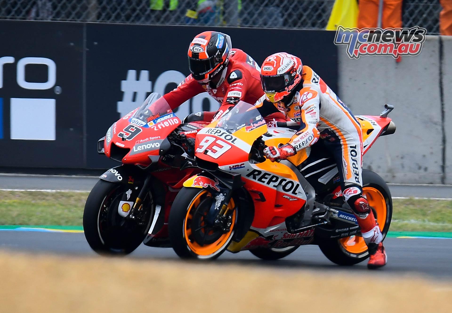 MotoGP Rnd LeMans Marquez Petrucci