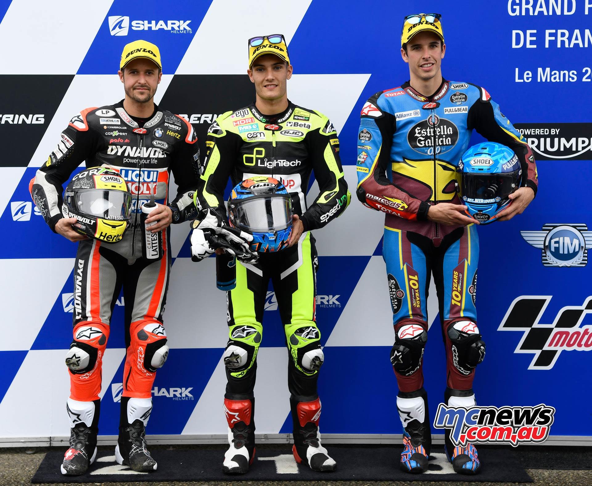 MotoGP Rnd LeMans QP Moto Lüthi Navarro Marquez
