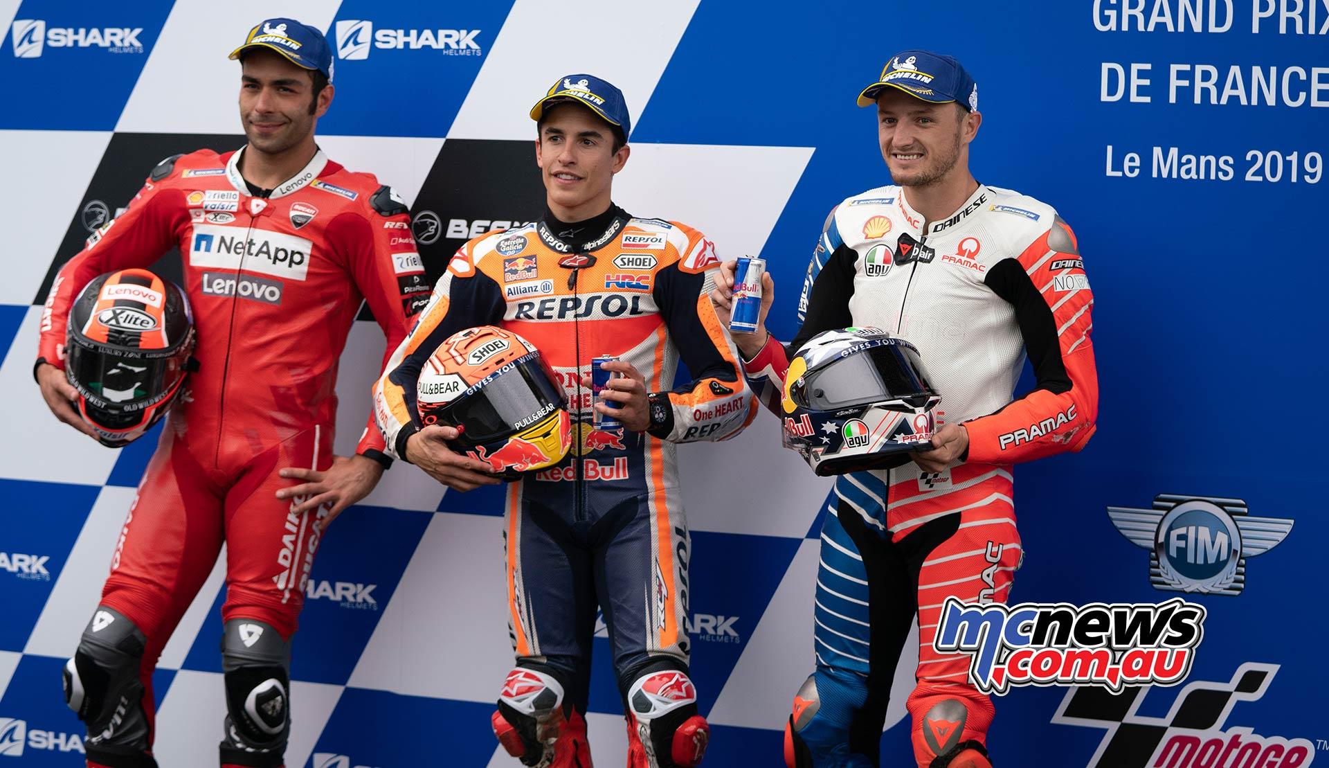 MotoGP Rnd LeMans QP Qualifying Marquez Petrucci Miller