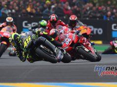 MotoGP Rnd LeMans Rossi Dovizioso