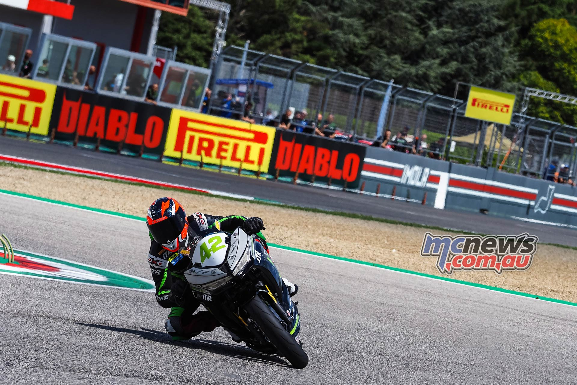WSBK Rnd Imola Friday WorldSSP Friday Action Garcia
