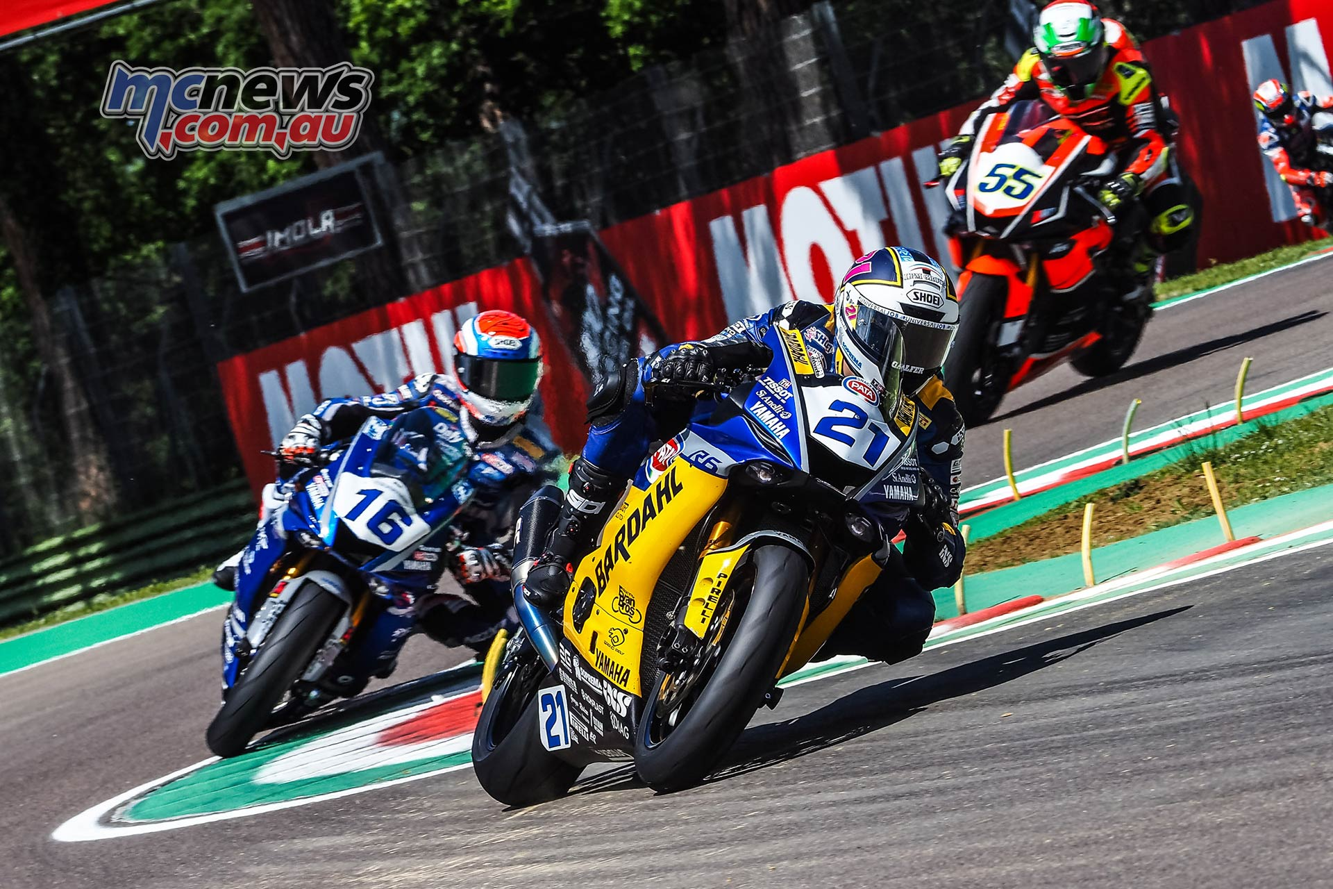 WSBK Rnd Imola Friday WorldSSP Friday Action Krummenacher