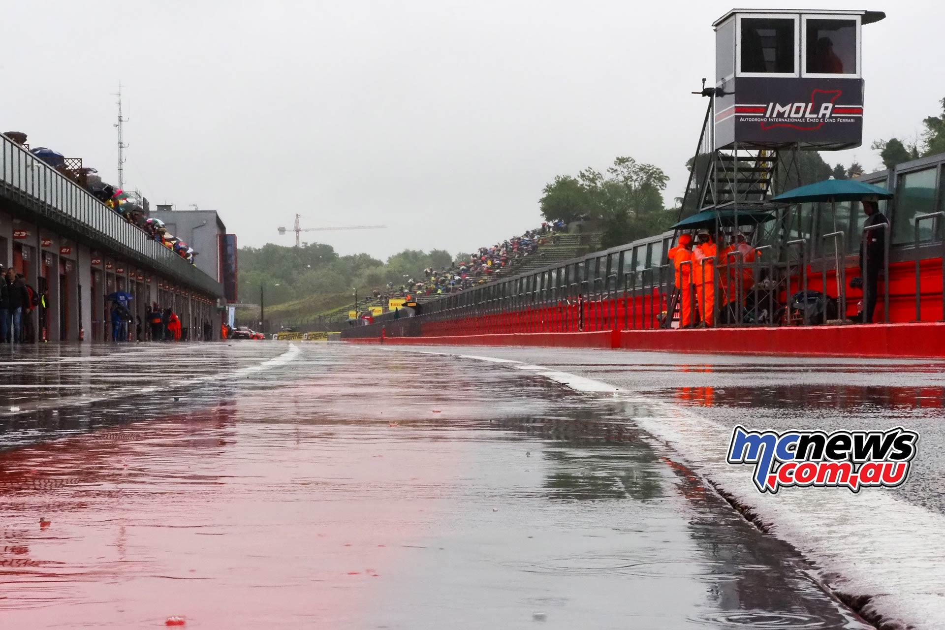 WSBK Rnd Imola Sunday Rain Track