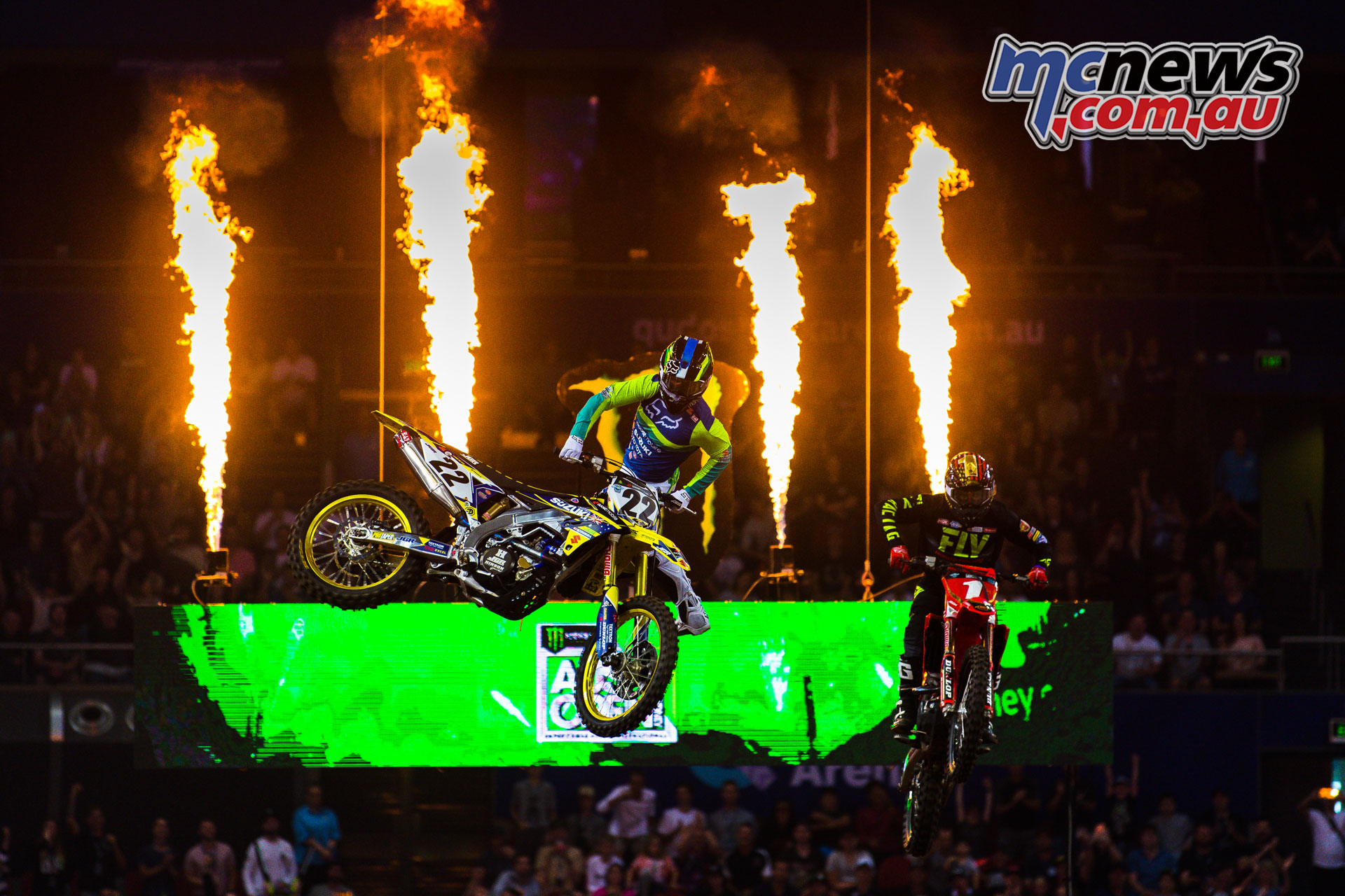 Chad Reed flying high at the Monster Energy AUS X Open Sydney