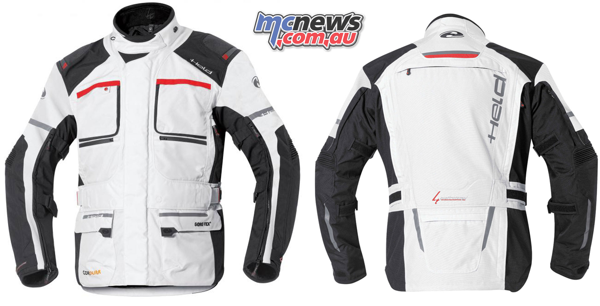 Held Carese II Touring Jacket lady grey red