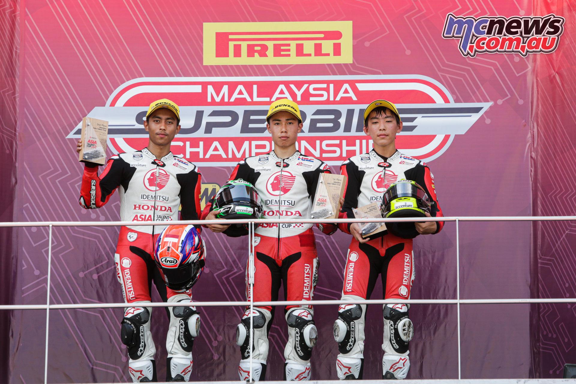 Asia Talent Cup Rnd Sepang Sat Podium ZA