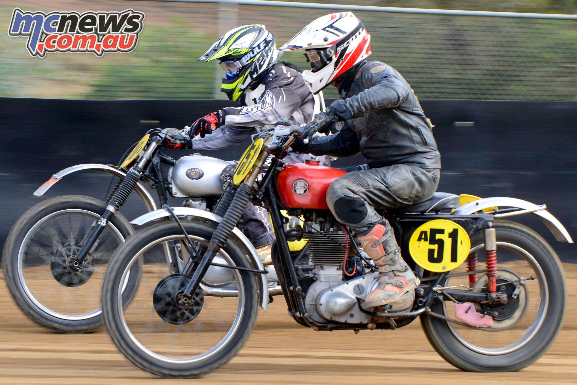 Australian Classic Dirt Track Championship Bill Mitchell and Graham Anderson duked it out all weekend ACDTC