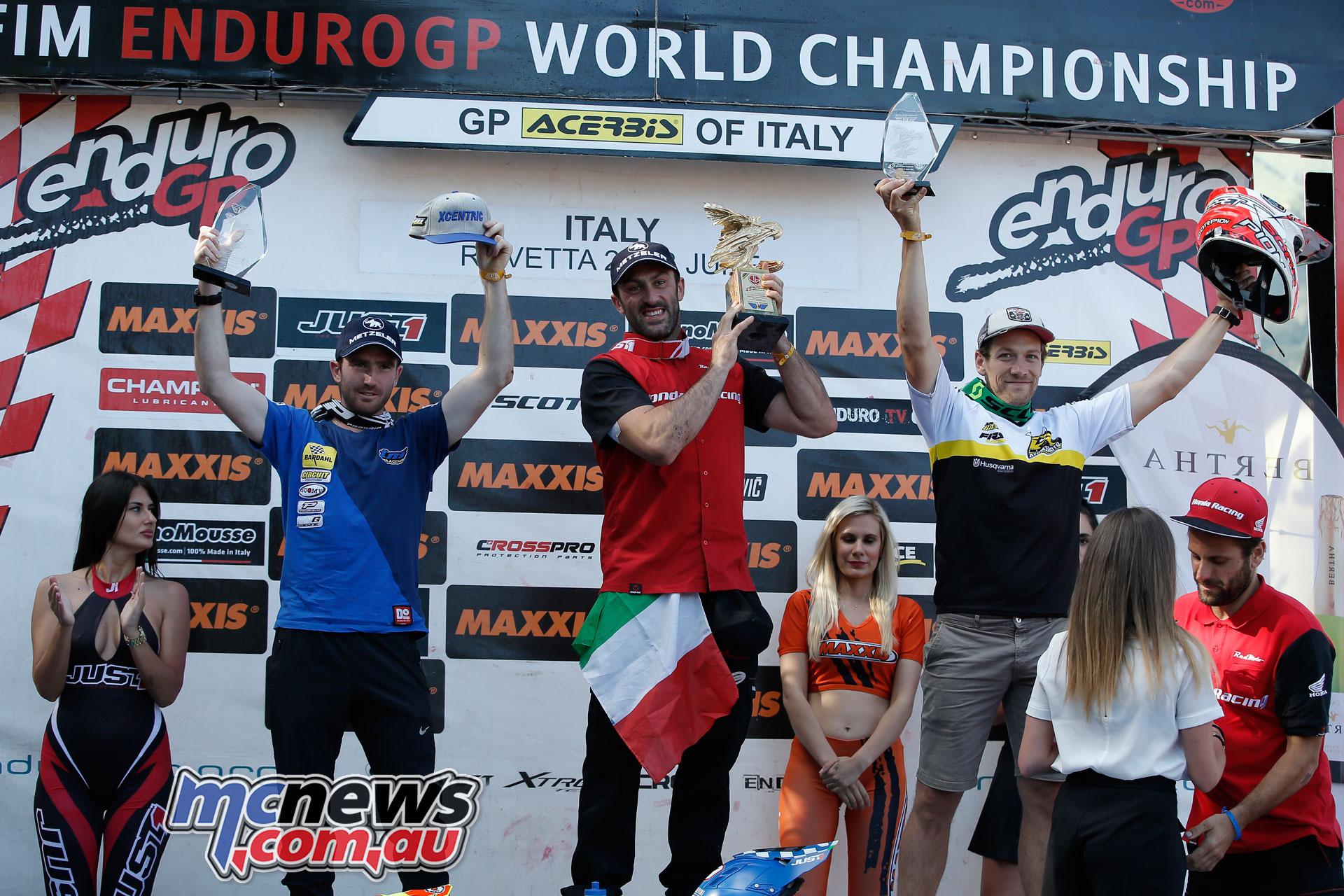 EnduroGP Italy podium enduro gp day