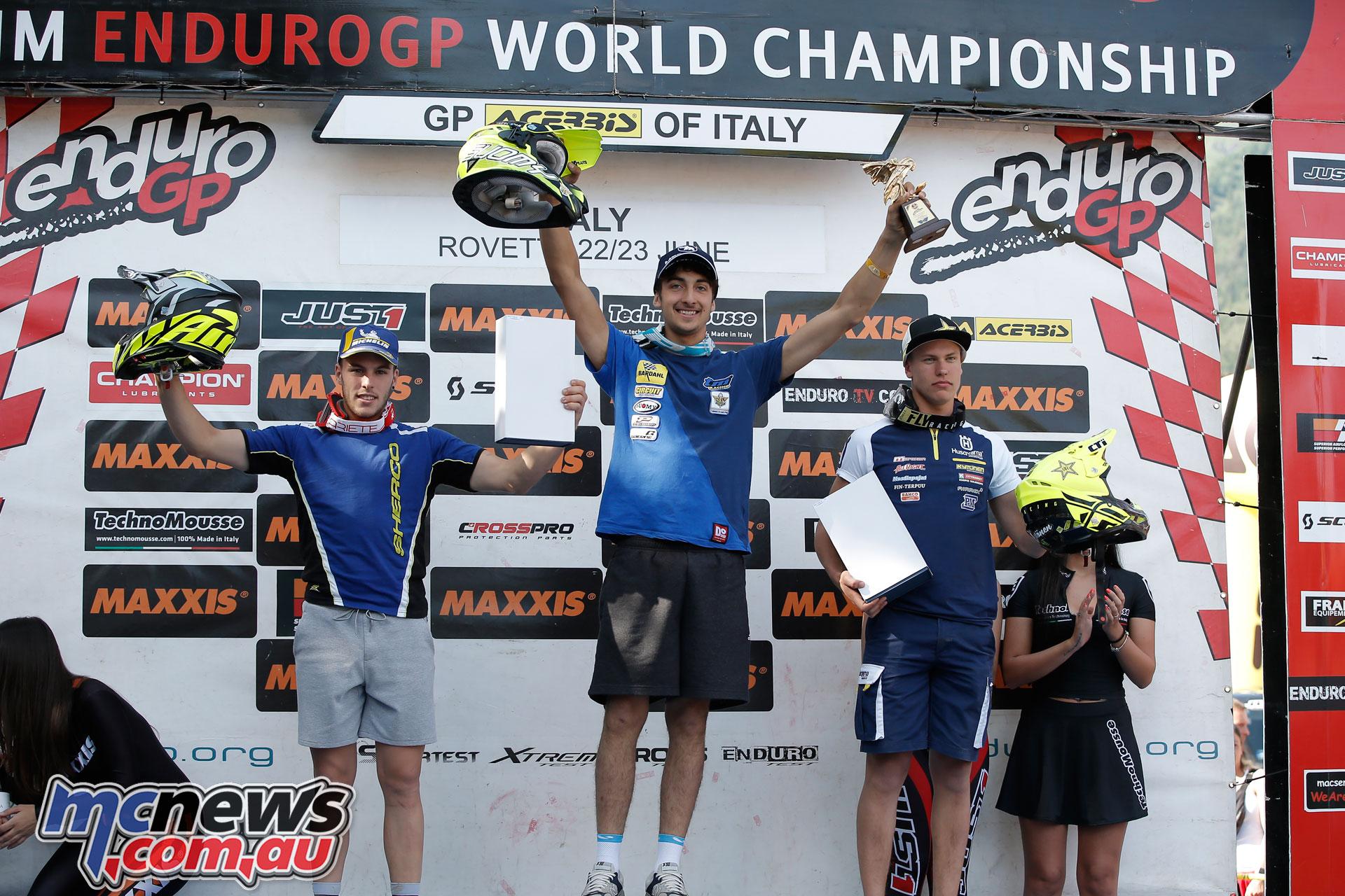 EnduroGP Italy podium junior day