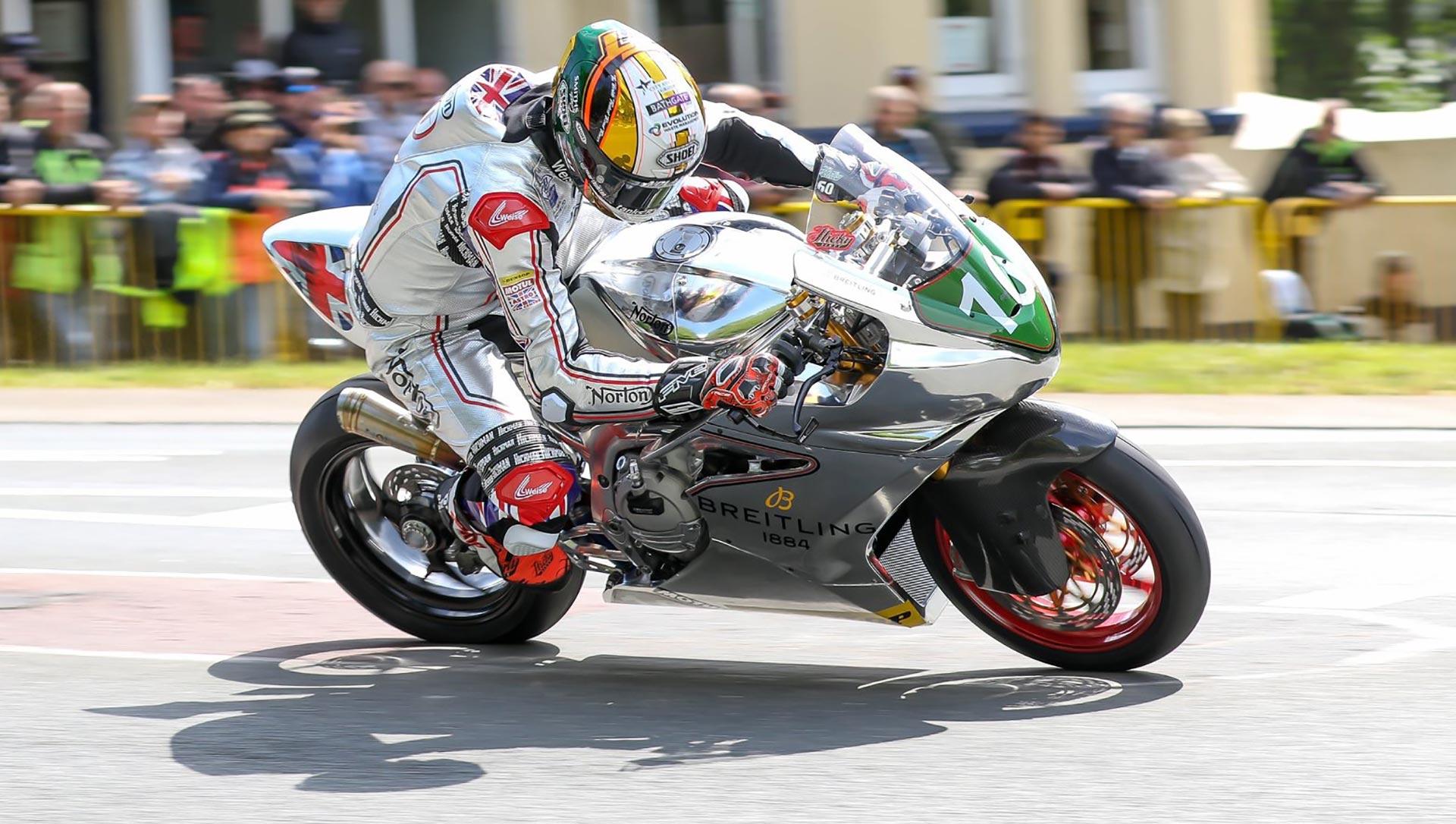 IOMTT Lightweight TT Peter Hickman Norton Twin