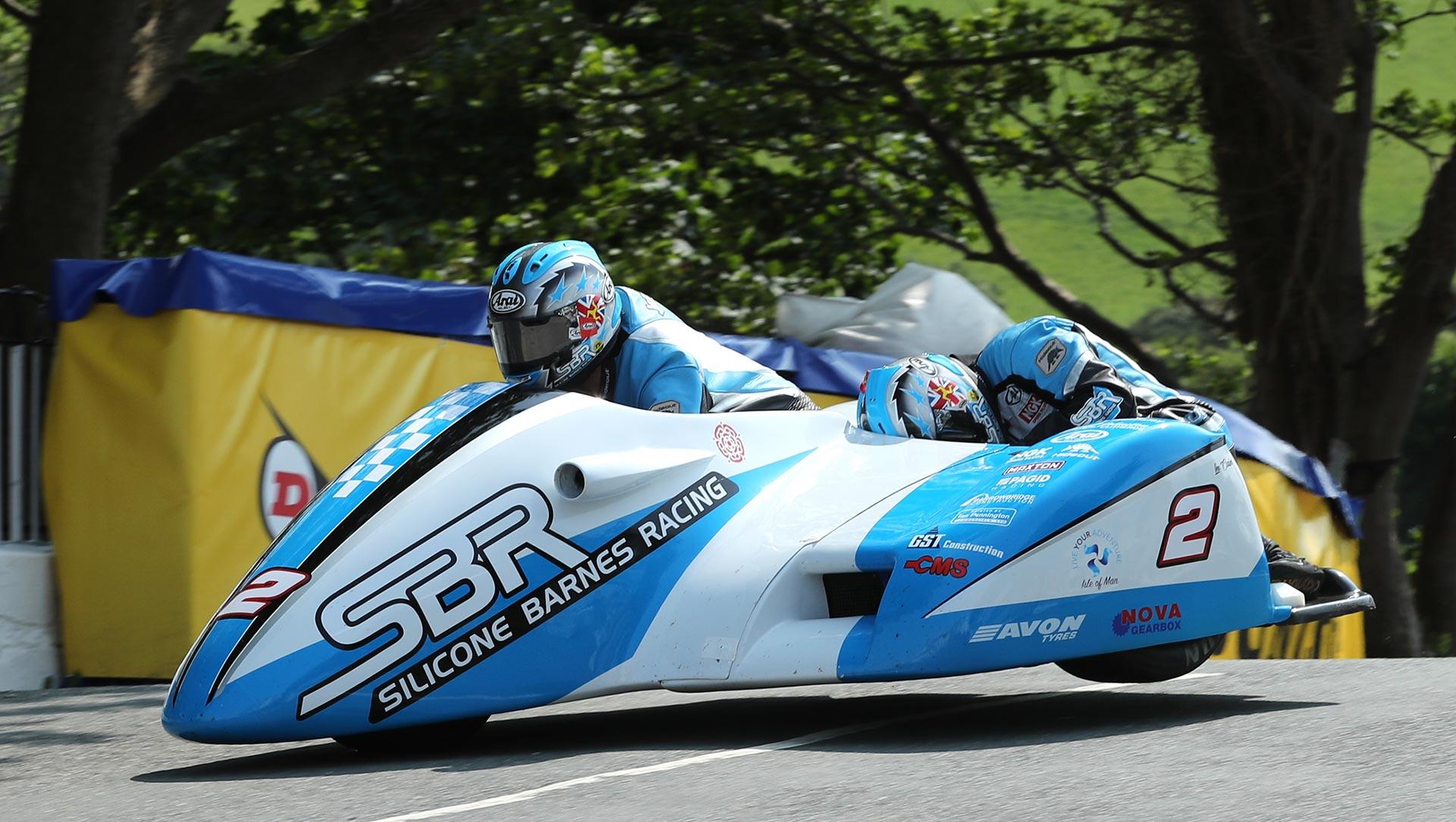 IOMTT Qualifying Sunday Sidecars John Holden Lee Cain