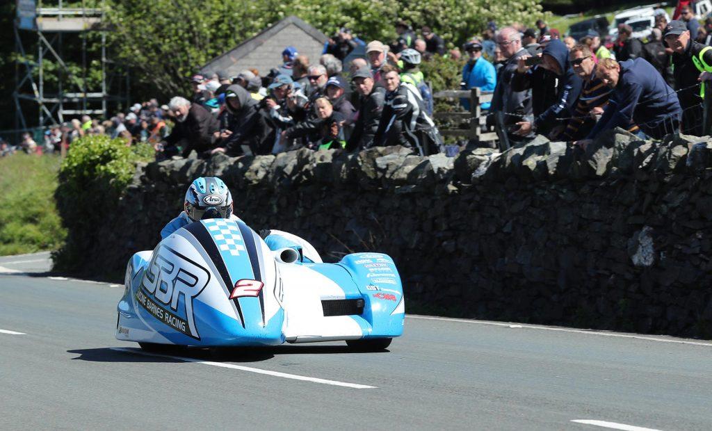 IOMTT Sidecar Race Holden Cain