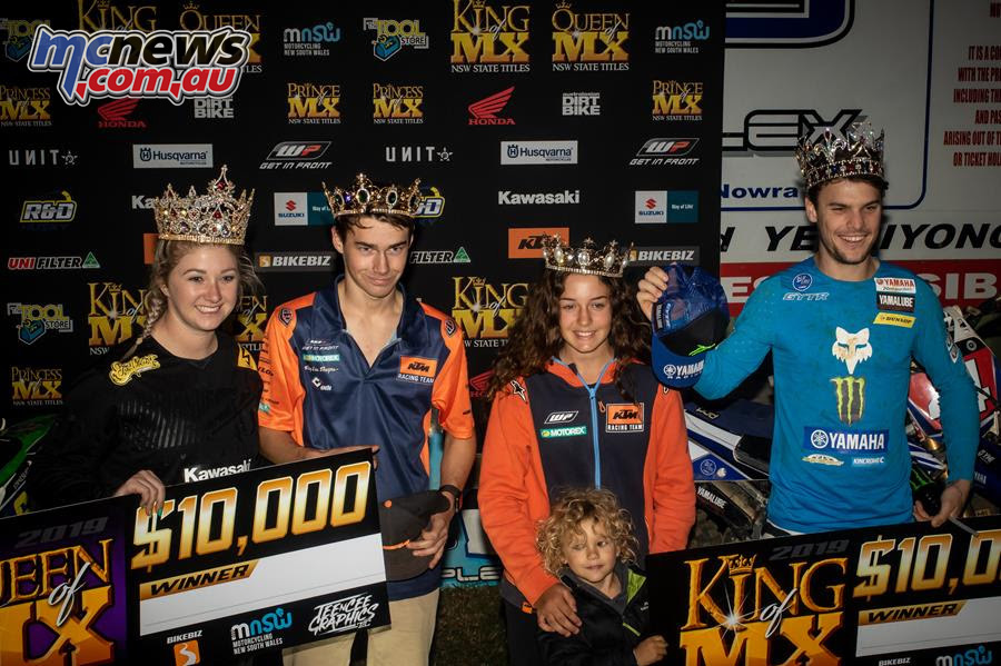 King of MX Nowra Podium