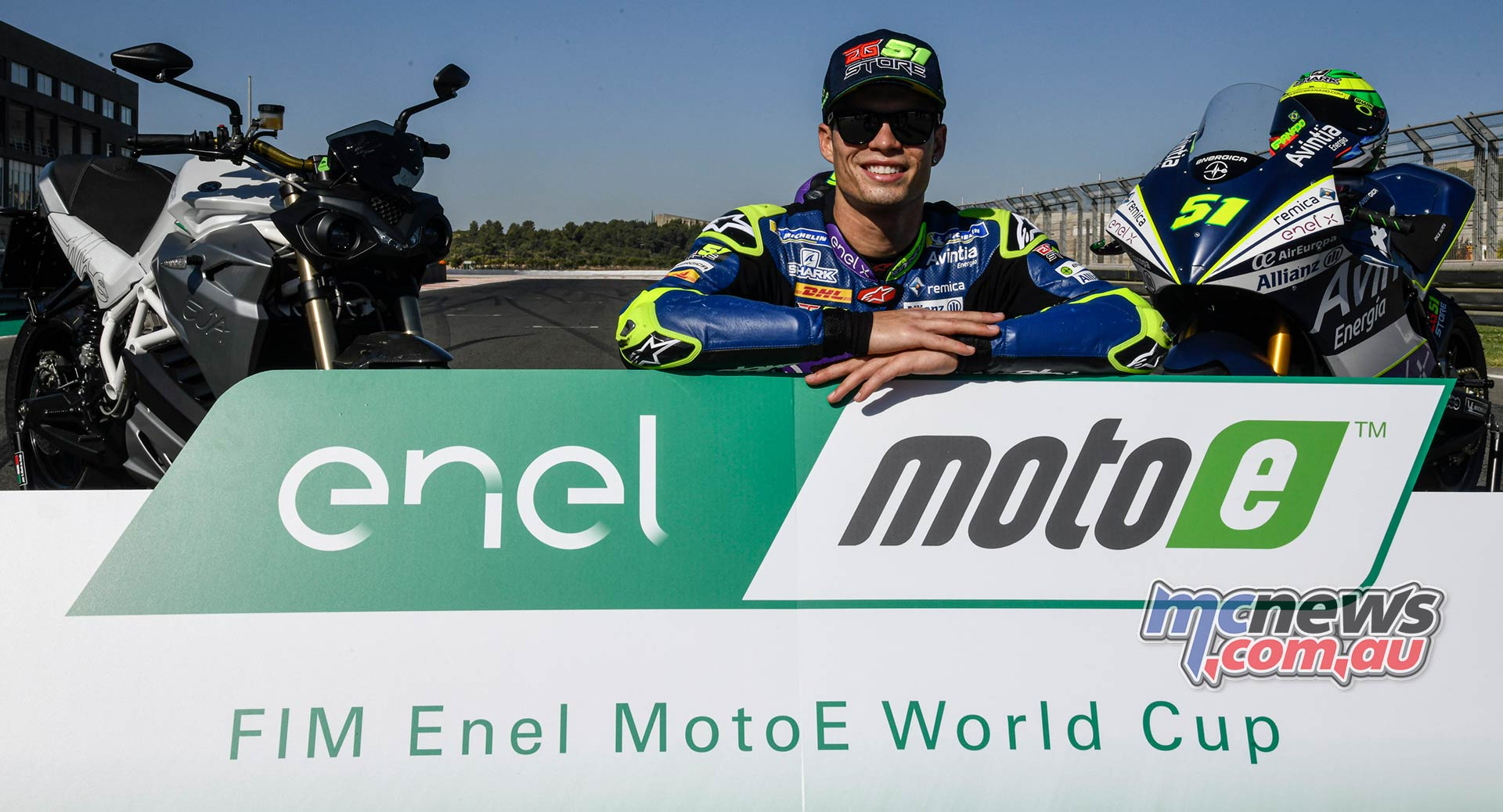 MotoE World Cup test Valencia Final Eric Granado With Energica Eva