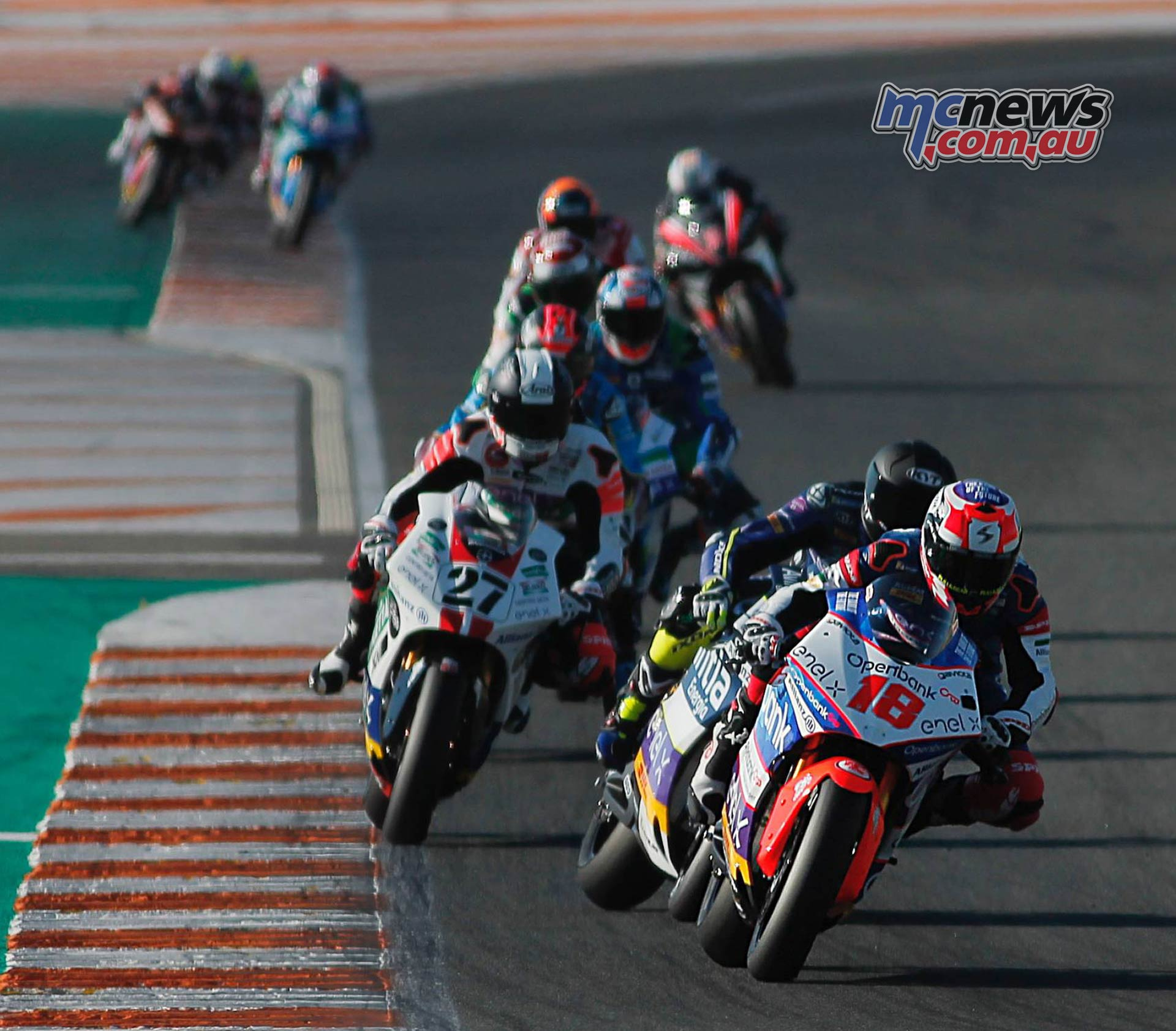 MotoE World Cup test Valencia Final Nico Terol Pack