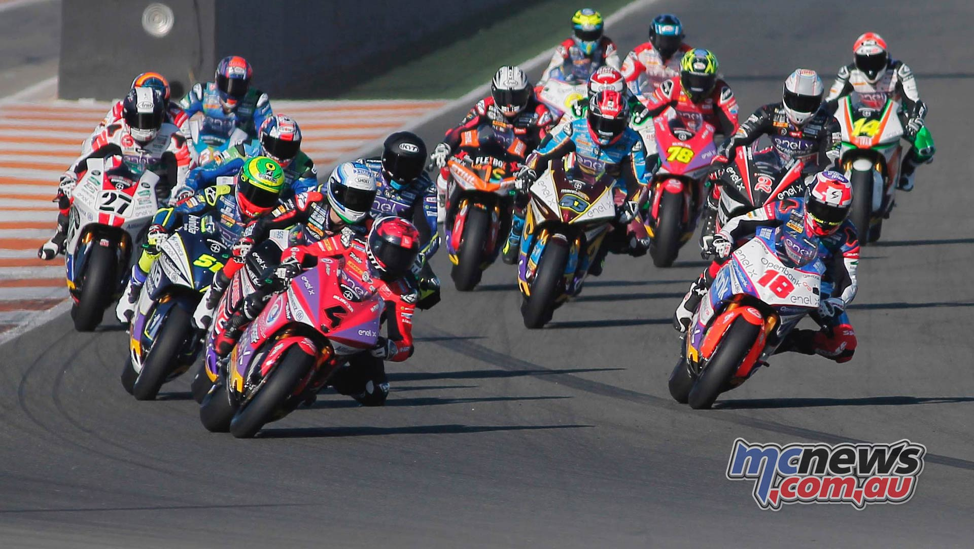MotoE World Cup test Valencia Final Race Start