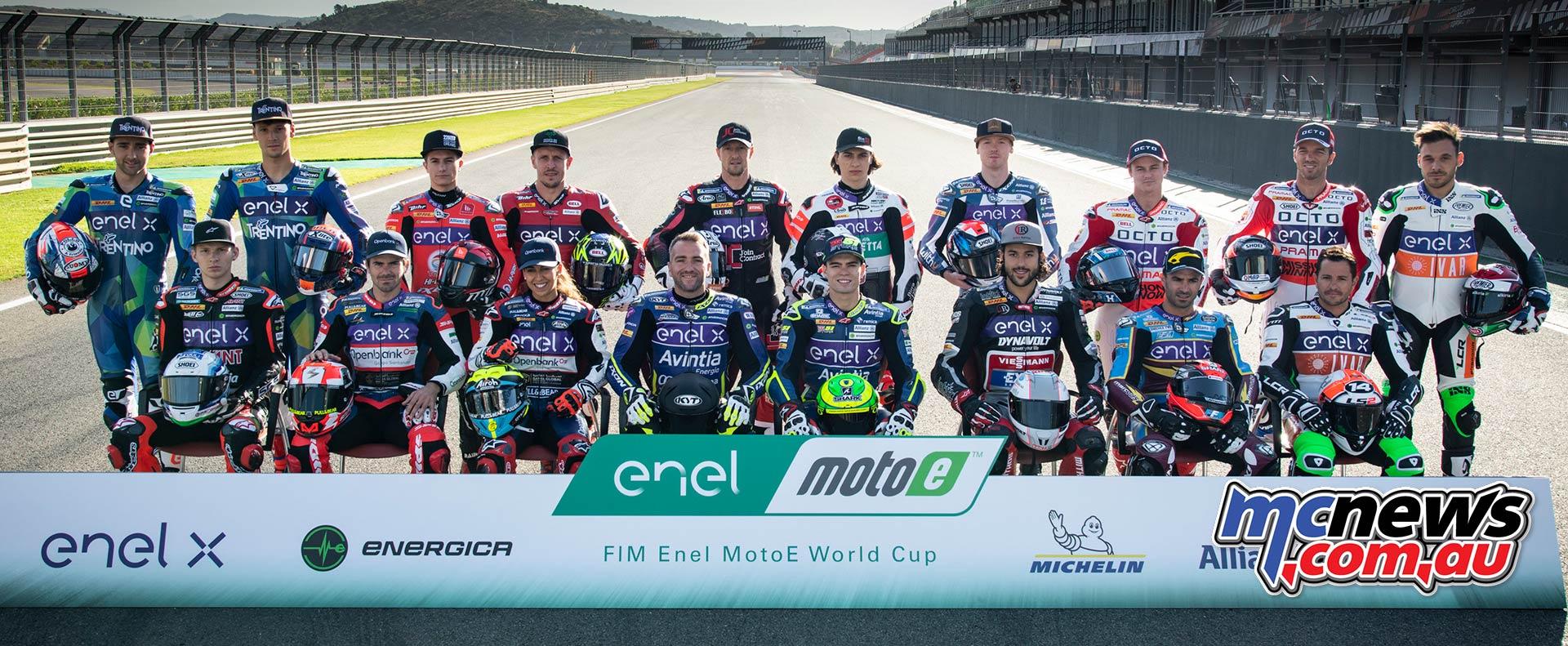 MotoE World Cup test Valencia Tues MotoE Grid