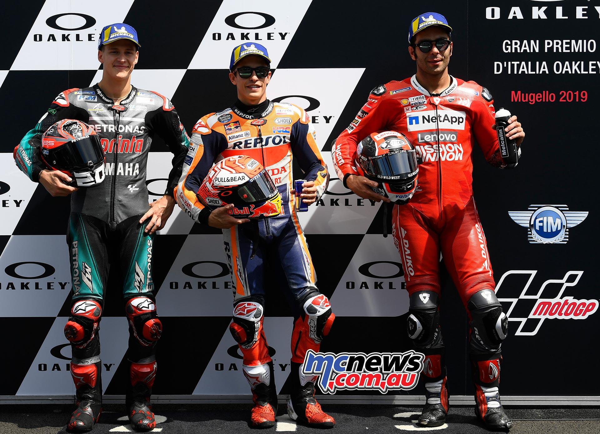 MotoGP Rnd Mugello QP Quartararo Marquez Petrucci