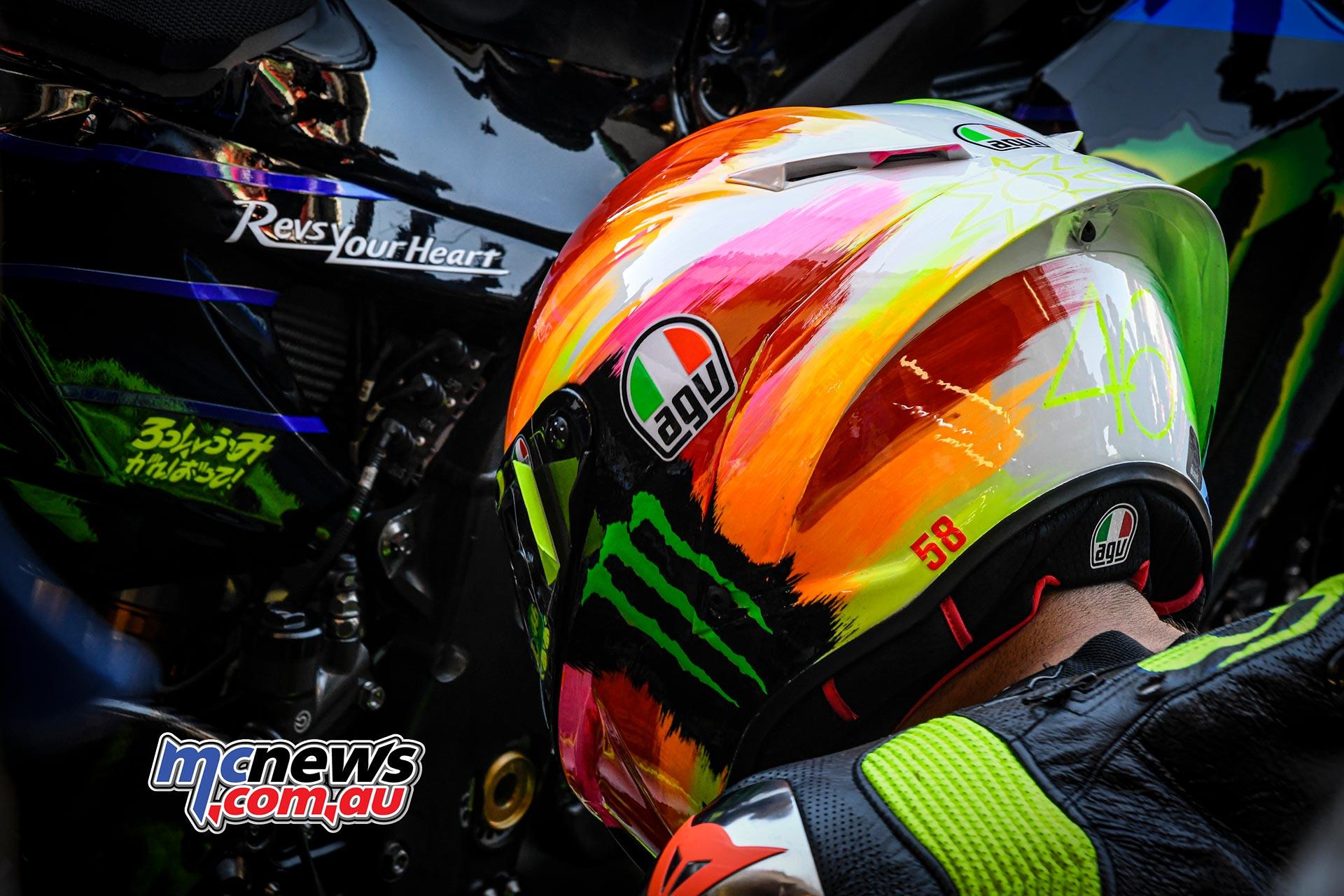 MotoGP Rnd Mugello QP Valentino Rossi Helmet