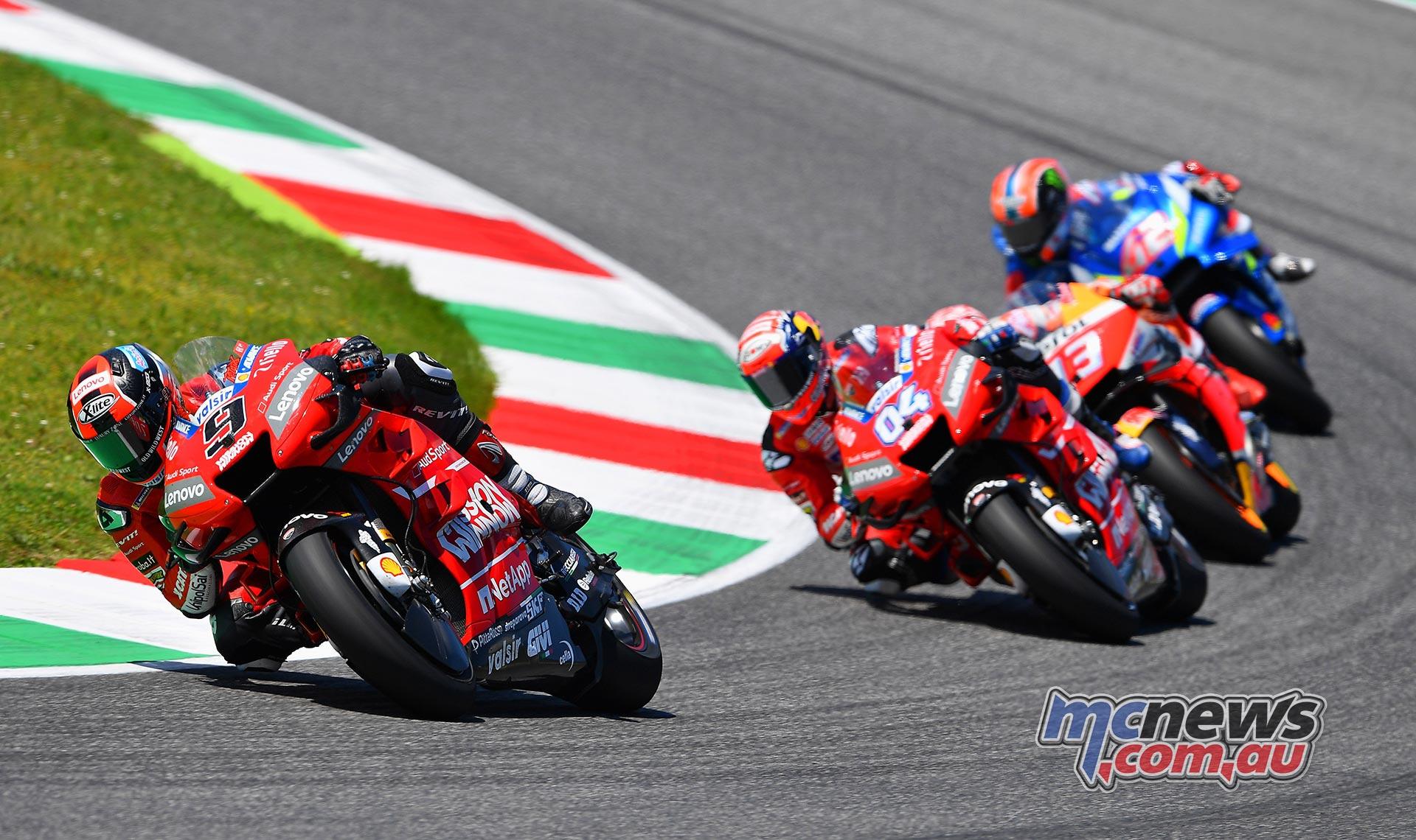 MotoGP Rnd Mugello Race Petrucci Dovizioso Marquez Rins Front