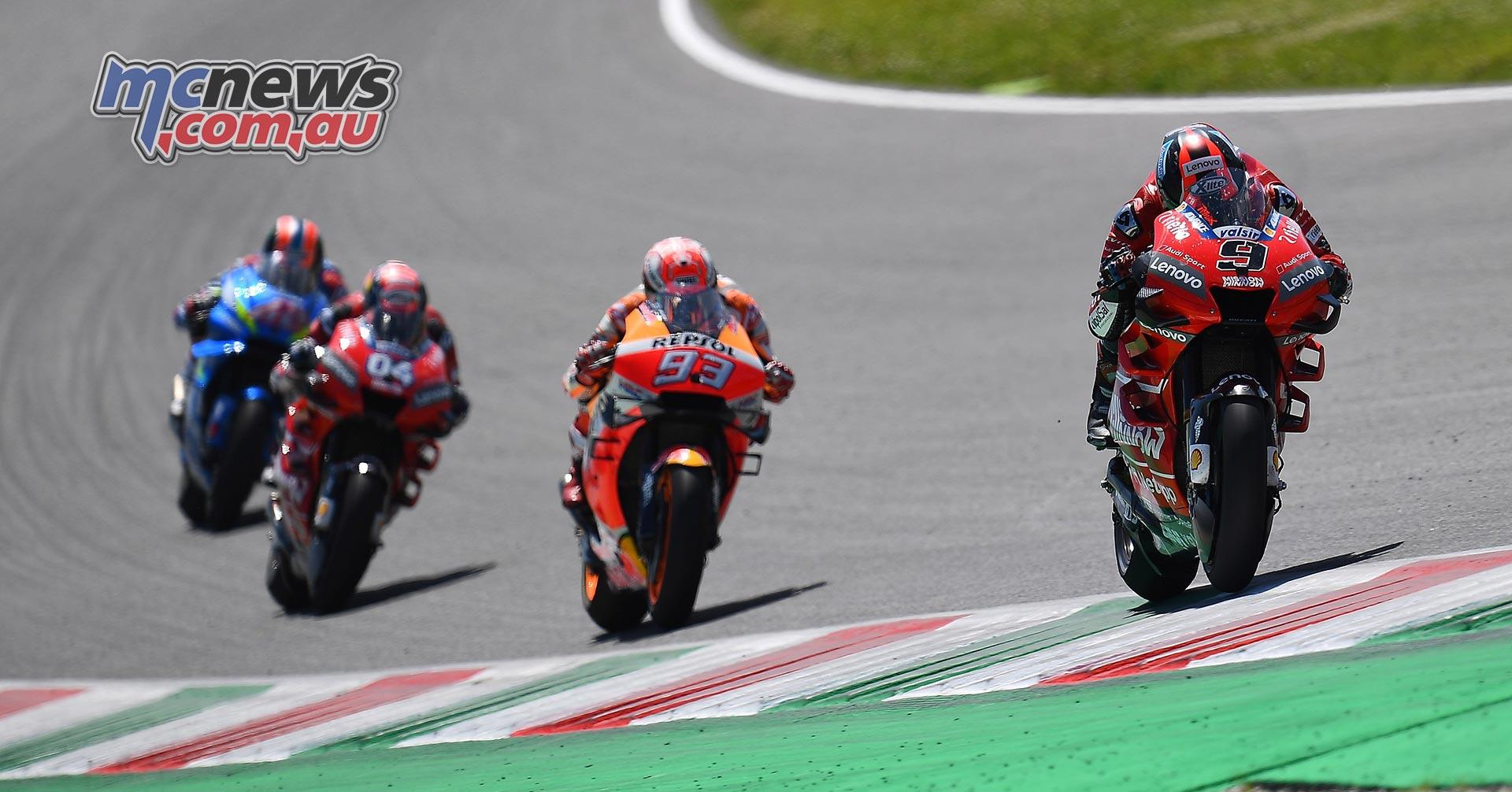 MotoGP Rnd Mugello Race Petrucci Marquez Dovizioso Rins RHF